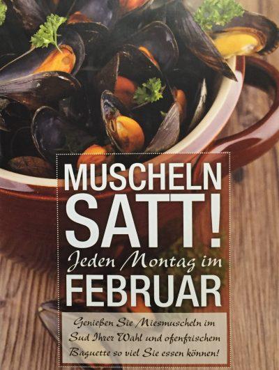 Muscheln-Montag im Februar