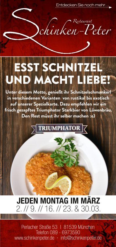 Schnitzel Montag März